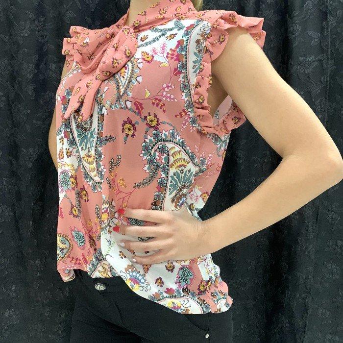 Дамски потник в цвят пепел от рози с модерен дизайн-222